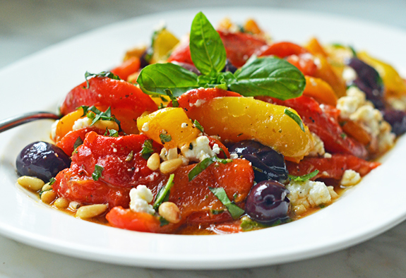 Roasted-Pepper-Salad-with-Feta-Pine-Nuts-and-Basil-11